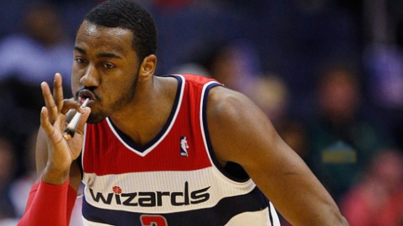 John Wall Gets High During Game